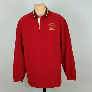 Polo Ralph Lauren Men's Red Polo Longsleeve Shirt